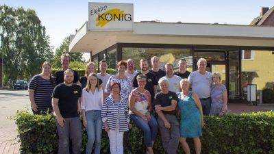 Das Team der Firma Elektro Koenig