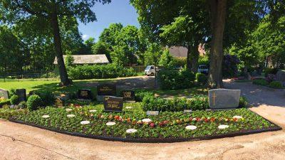 Beet auf dem Friedhof angelegt durch Friefhofsgärtnerei Westphal