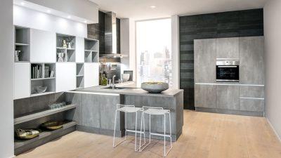 Küche in grautönen von Lebenstraum Küche