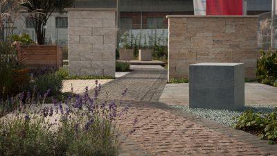 Die Ausstellungsfläche von NHI Natursteinhandel