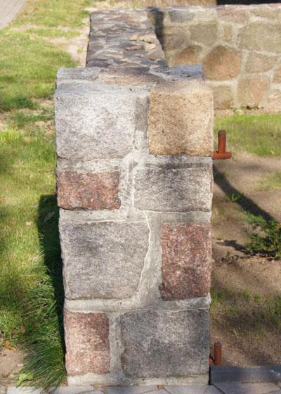 Eine Steinmauer