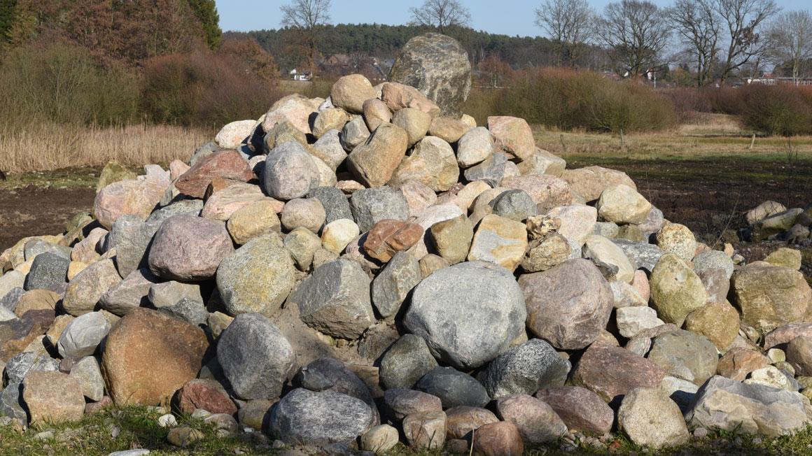 Das Steinlager der Firma Stonerich